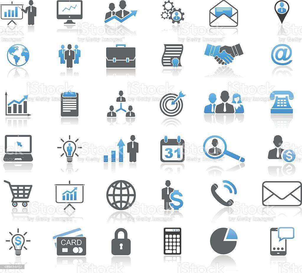 Universal Business Concept Icon Set vector art illustration
