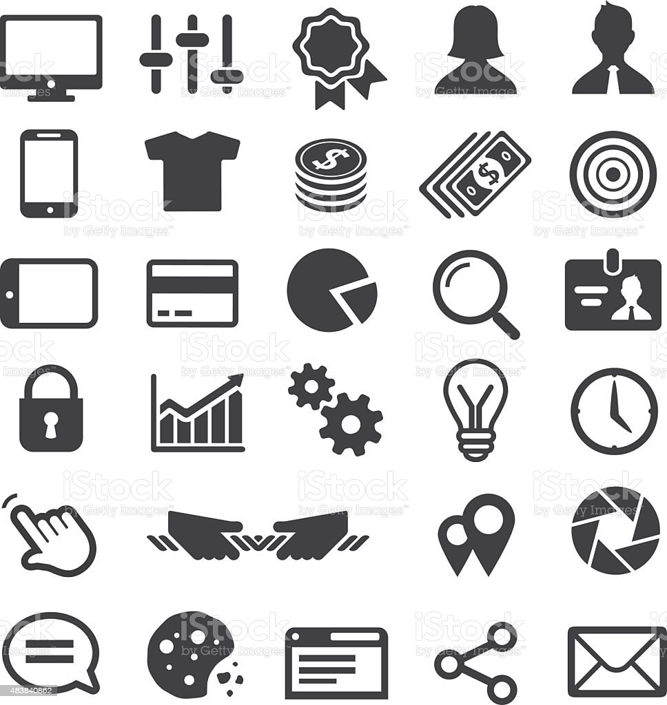 Universal Business icon set. vector art illustration