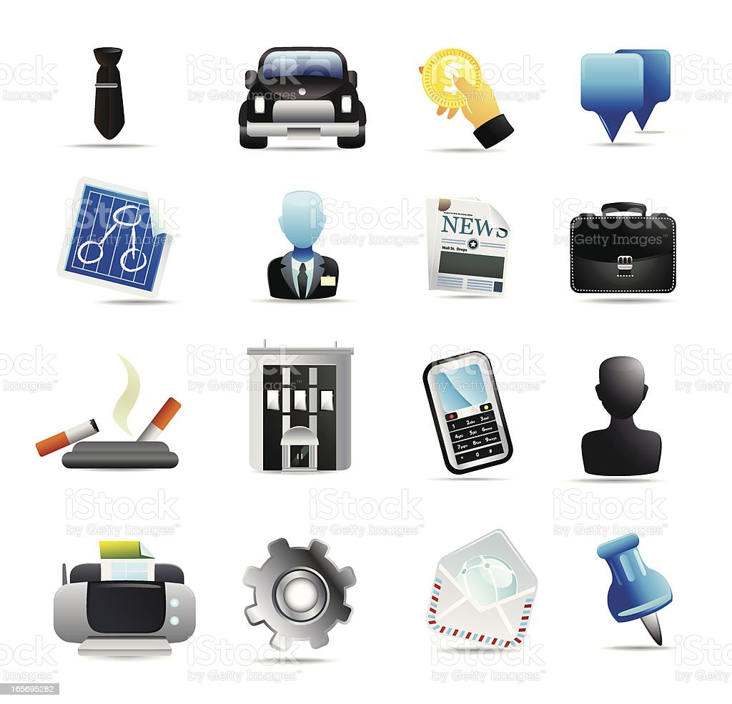 Universal Business Icons royalty-free stock vector art