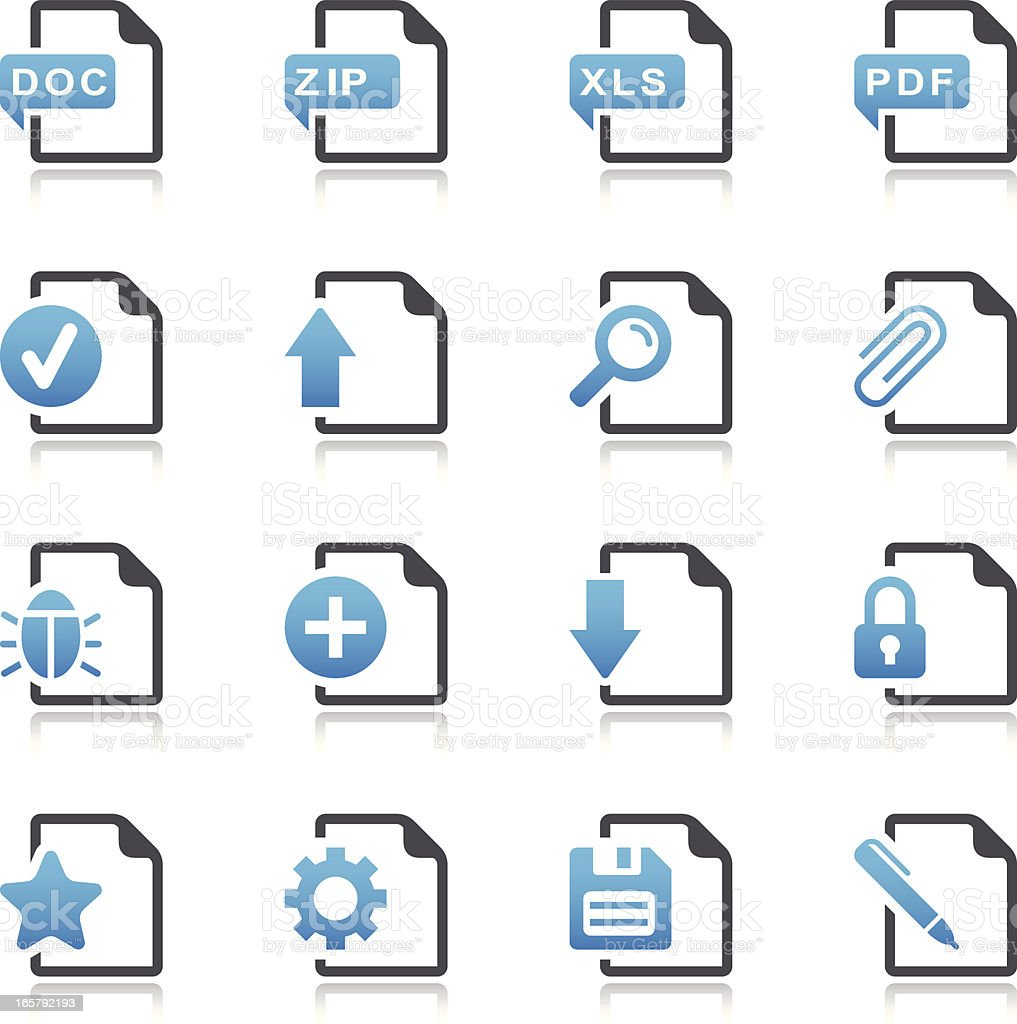 Universal File Icons vector art illustration