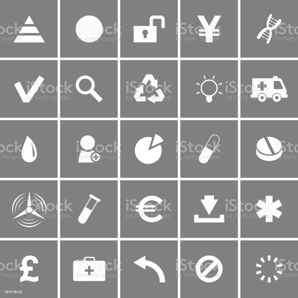 Universal Flat Vector Icons Set 3 royalty-free stock vector art