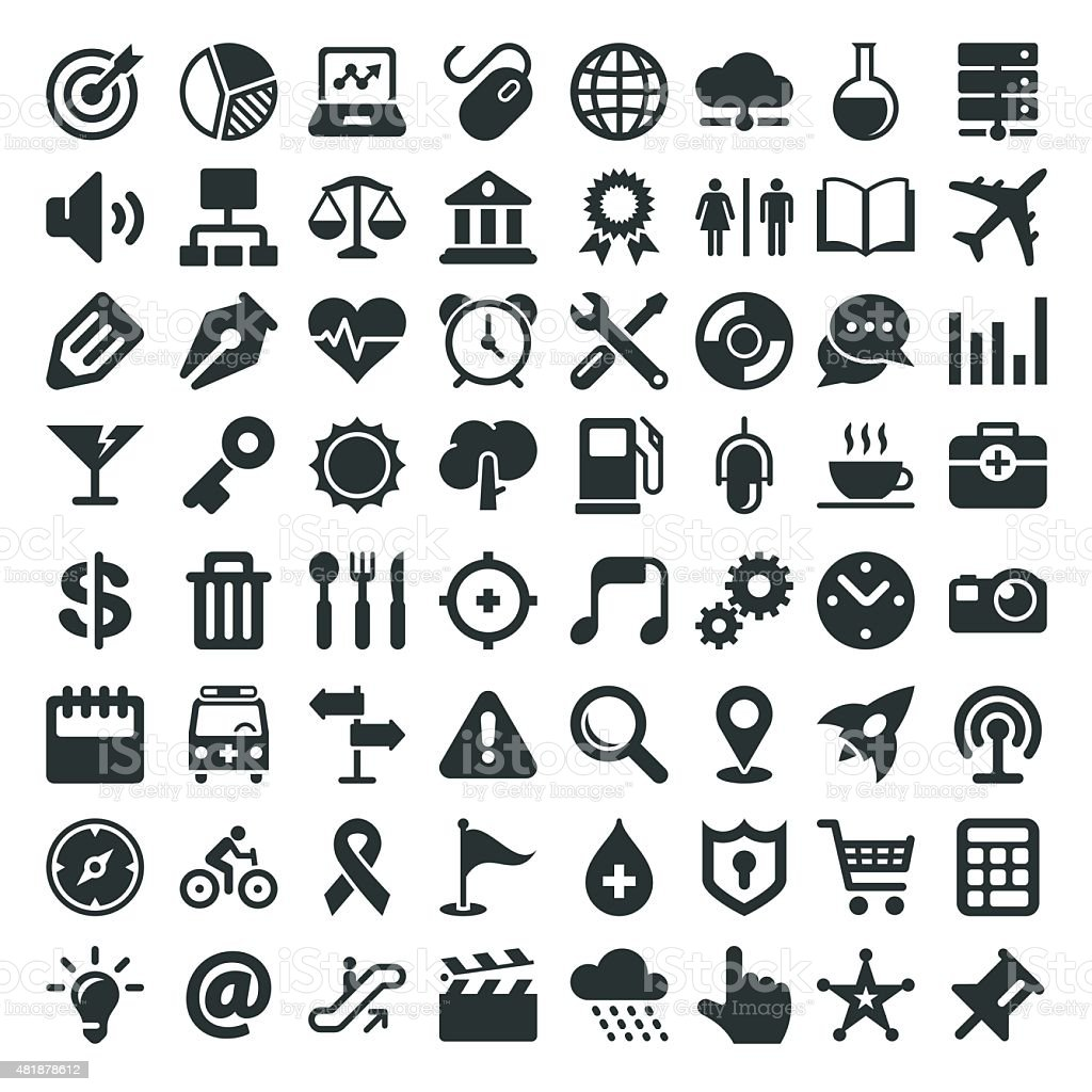 Universal Icon 64 Icons vector art illustration