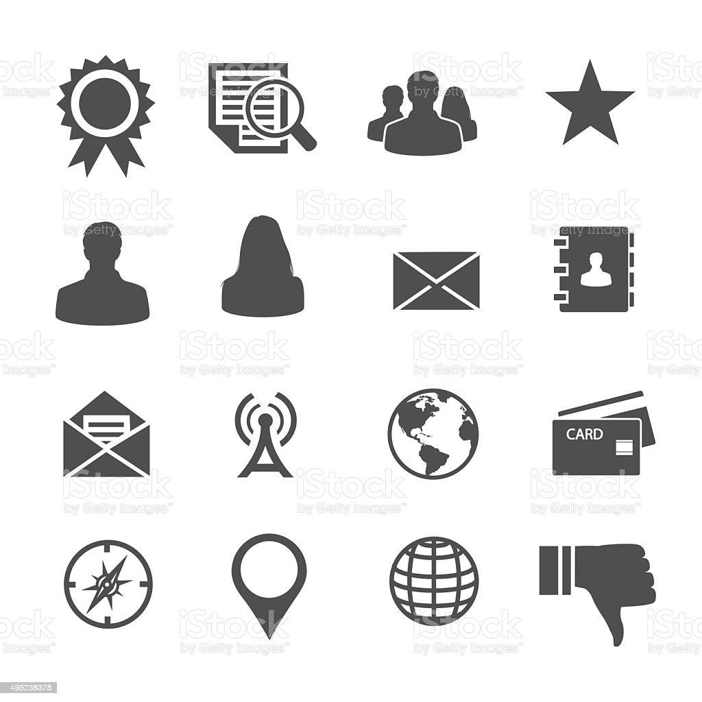 Universal icon vector art illustration