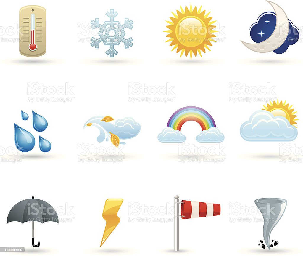 Universal icons - Air royalty-free stock vector art