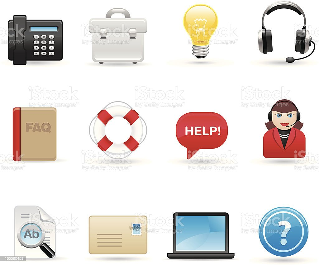 Universal icons - Assistance royalty-free stock vector art