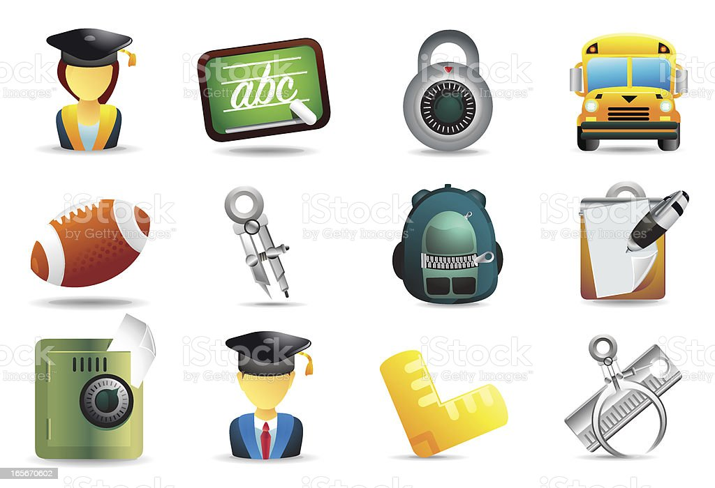 Universal icons Back to School royalty-free stock vector art