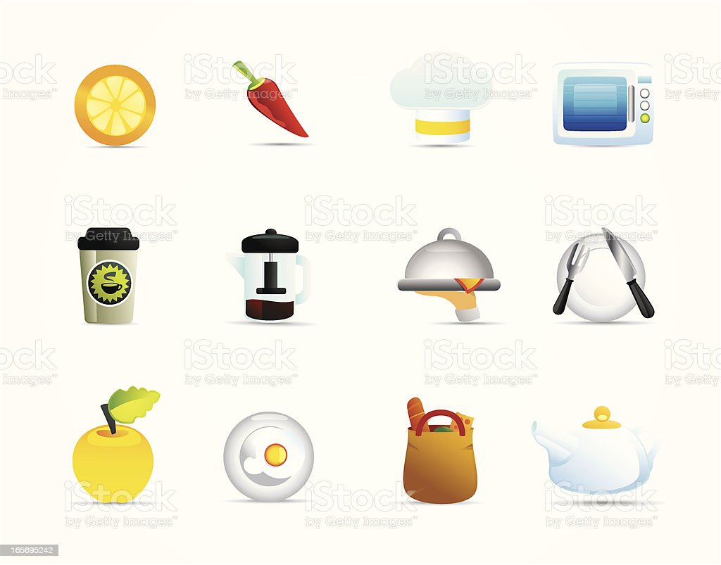 Universal Icons Food and Cuisine royalty-free stock vector art