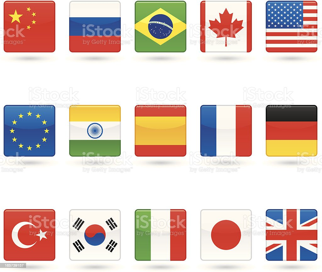 Universal icons - National Flags royalty-free stock vector art