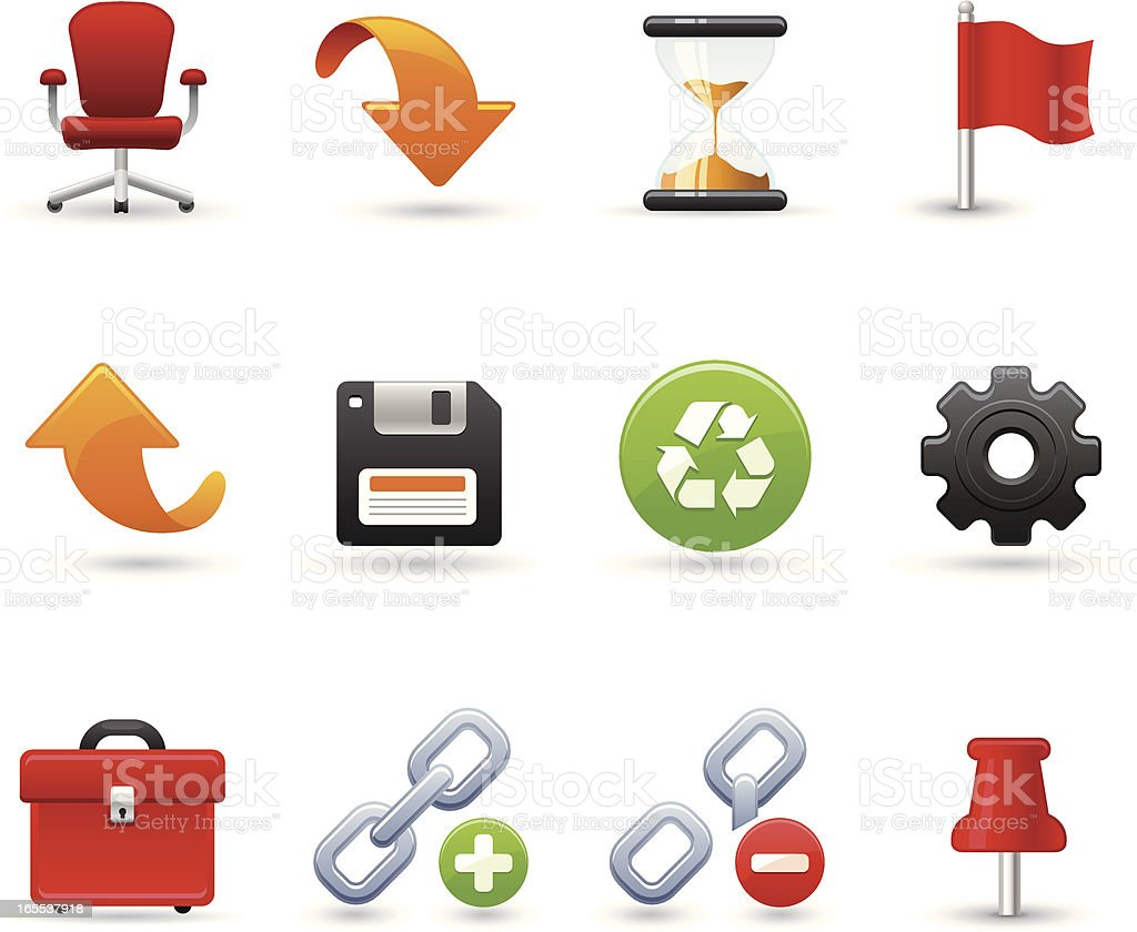 Universal icons - Office tools vector art illustration