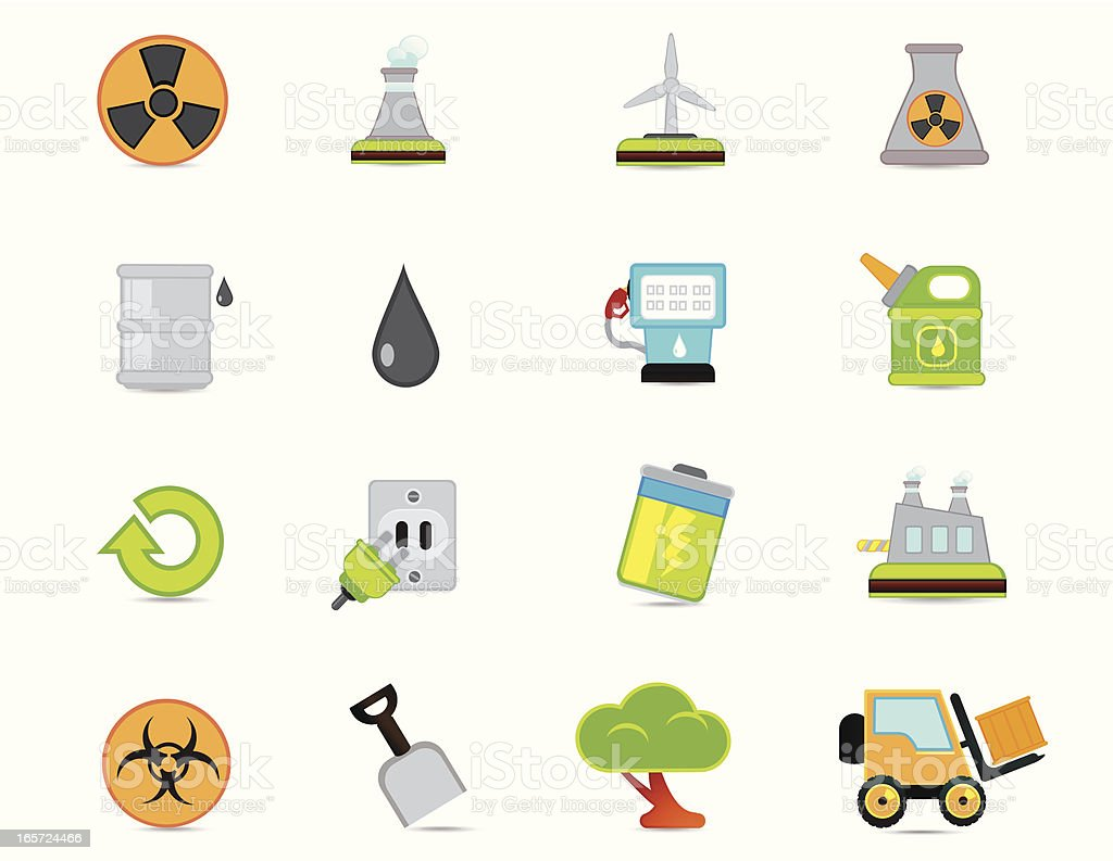 Universal Icons Oil and Energy royalty-free stock vector art