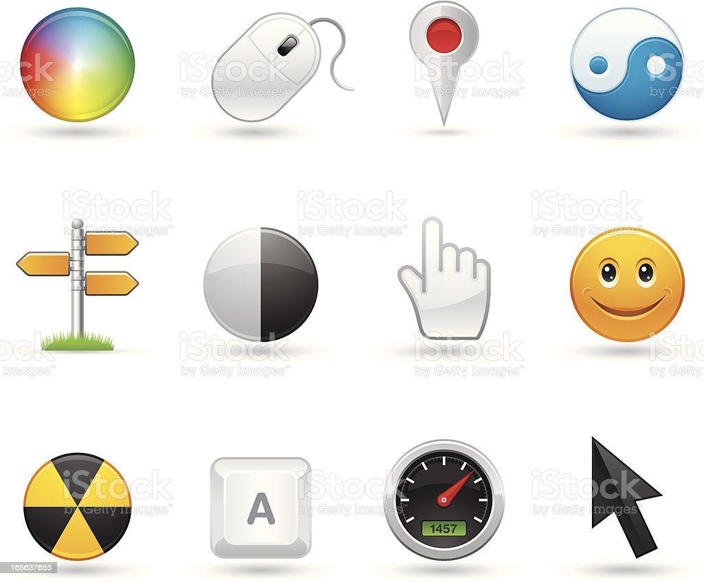 Universal icons - Pointers royalty-free stock vector art