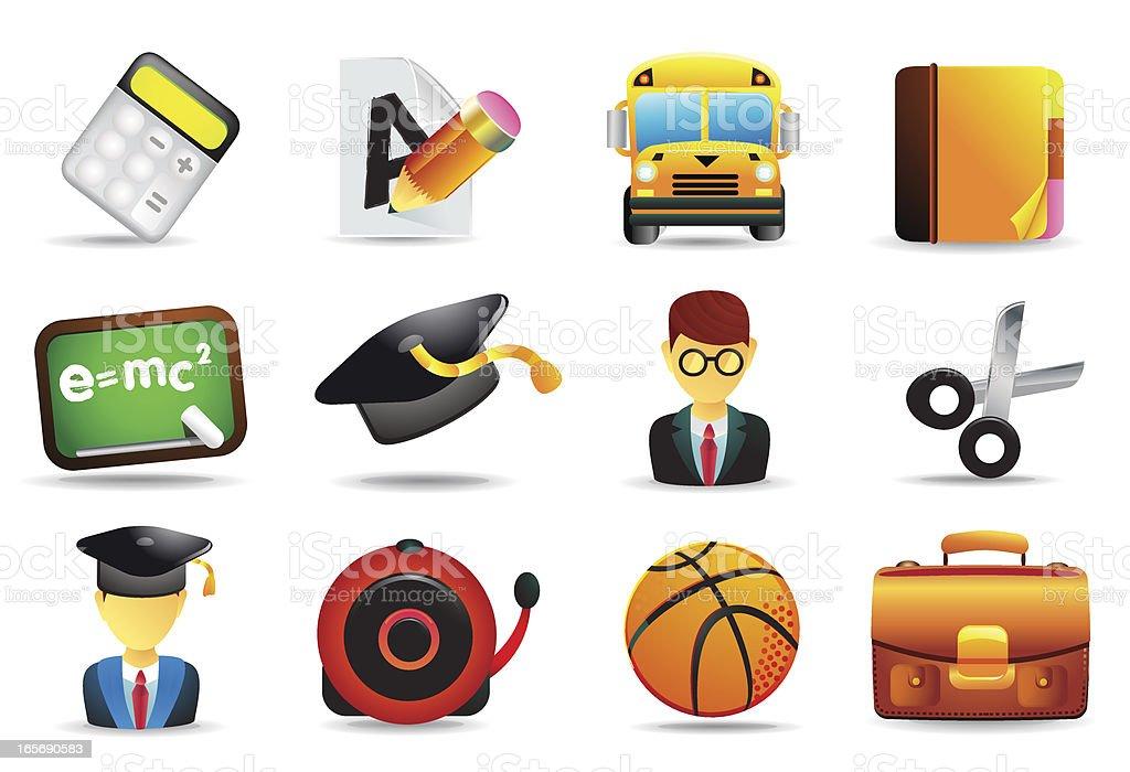 Universal Icons | School & Education II royalty-free stock vector art