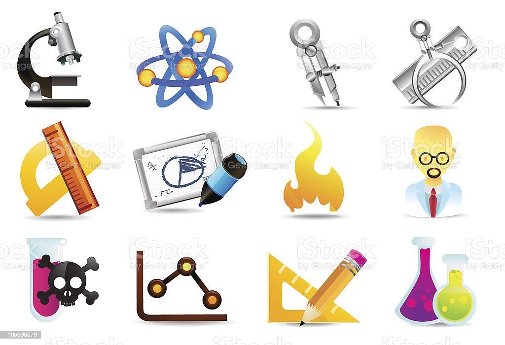 Universal Icons | Science & Measurement vector art illustration