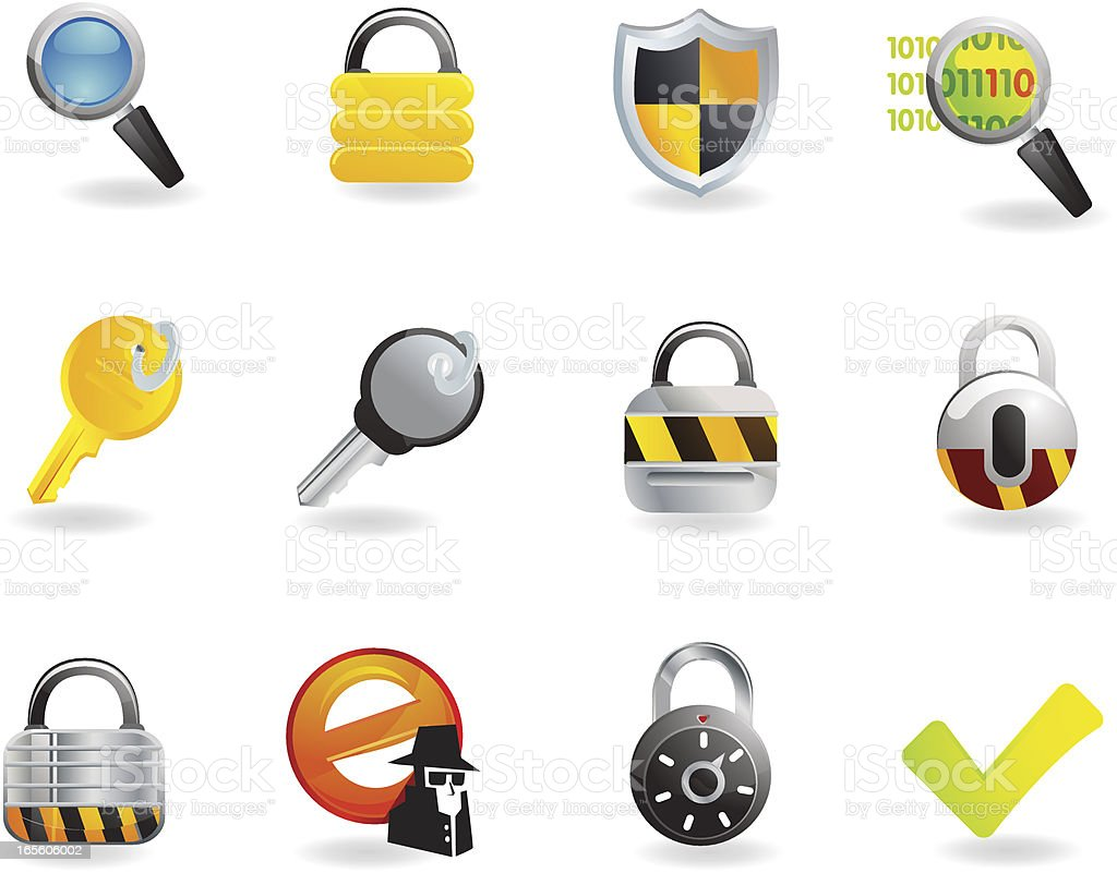 Universal Icons - Security royalty-free stock vector art