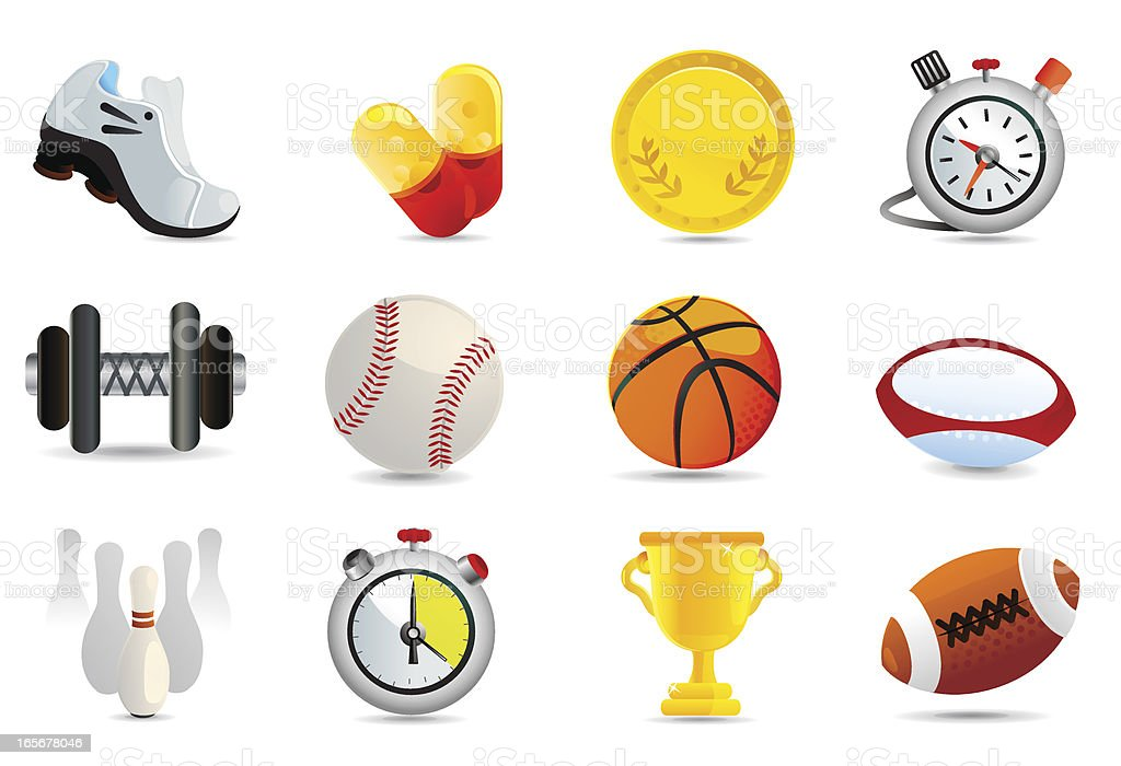 Universal Icons | Sports and Leisure royalty-free stock vector art