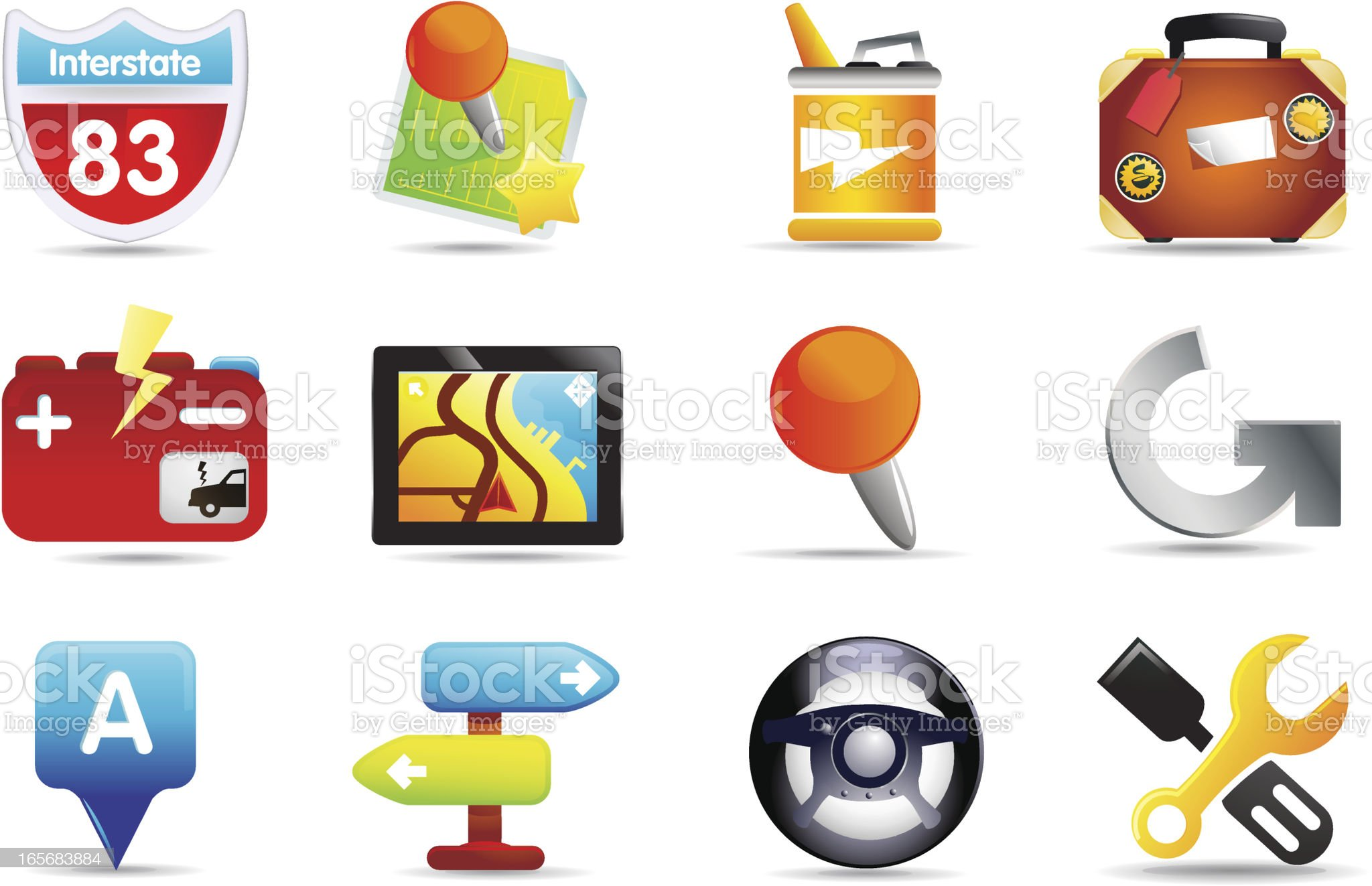 Universal Icons | Travel & GPS royalty-free stock vector art