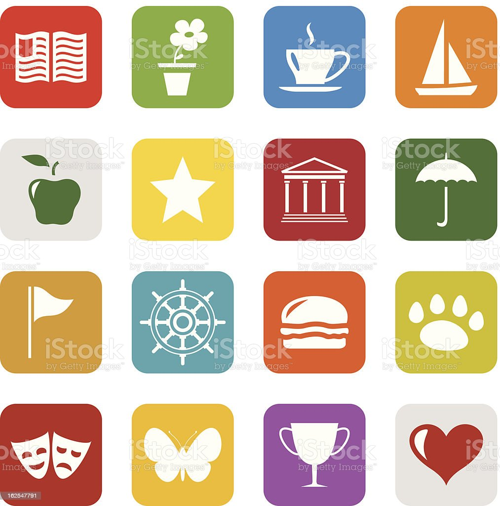 Universal icons royalty-free stock vector art