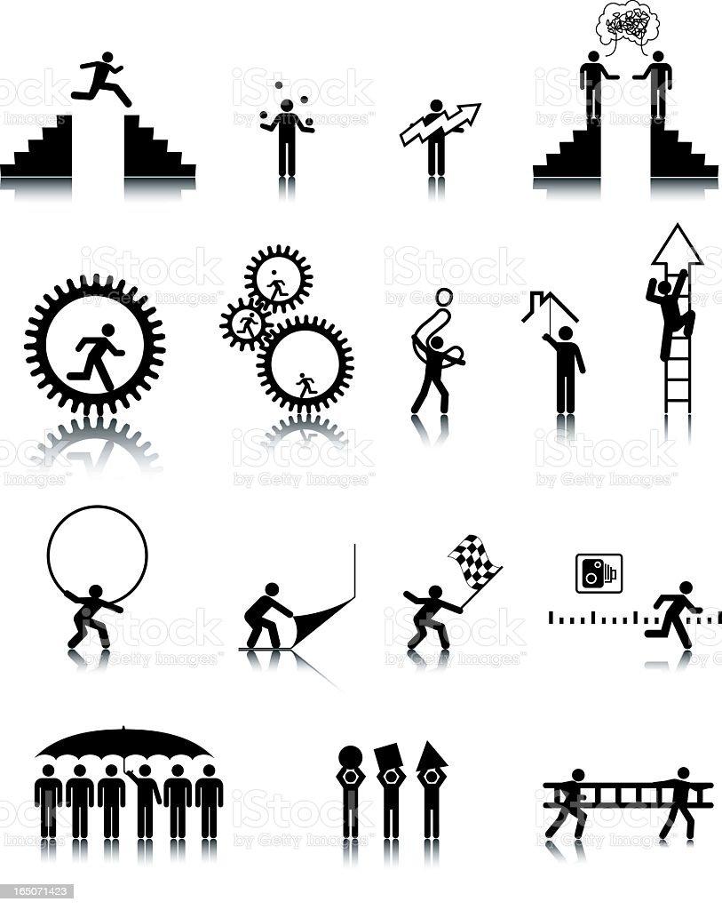 Universal Man Icons (vectored) royalty-free stock vector art