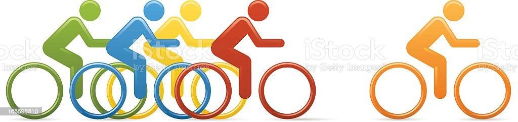Universal Men Cycle Race vector art illustration
