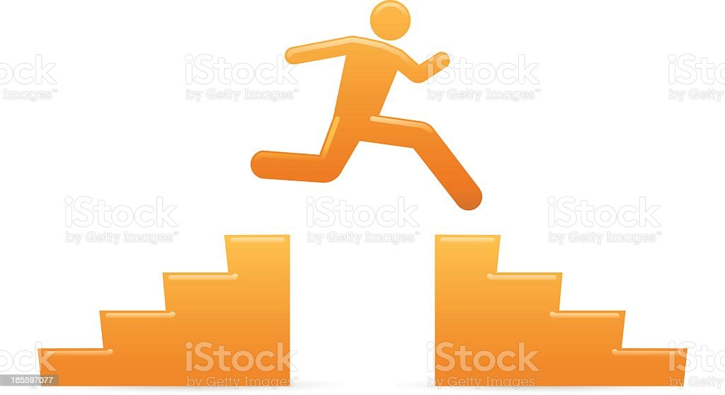 Universal Men: Jumping Over royalty-free stock vector art