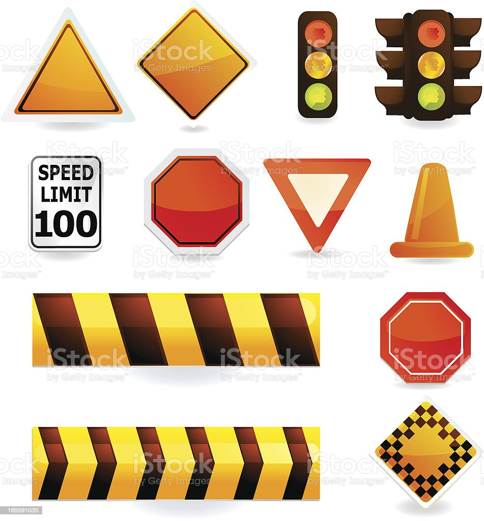 Universal Road & Construction Icons royalty-free stock vector art