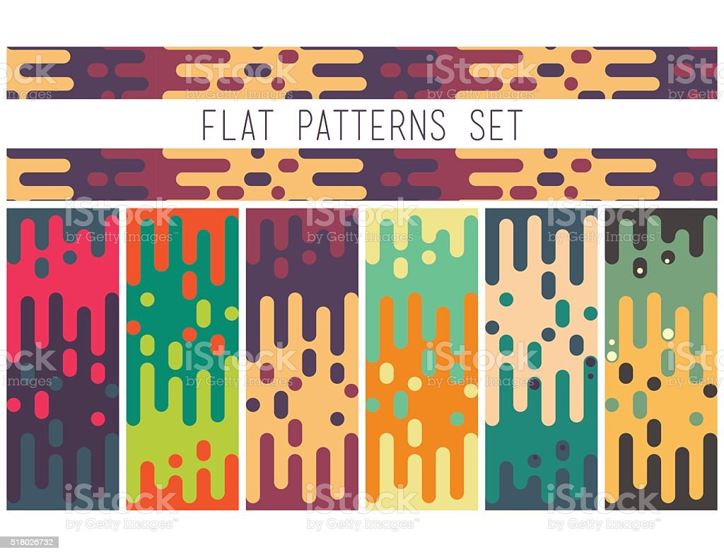 Universal seamless abstract pattern doodle geometric lines in re vector art illustration