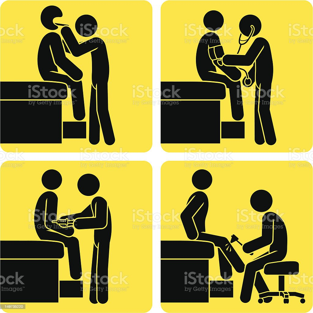 Universal Signs - Physical Exam vector art illustration