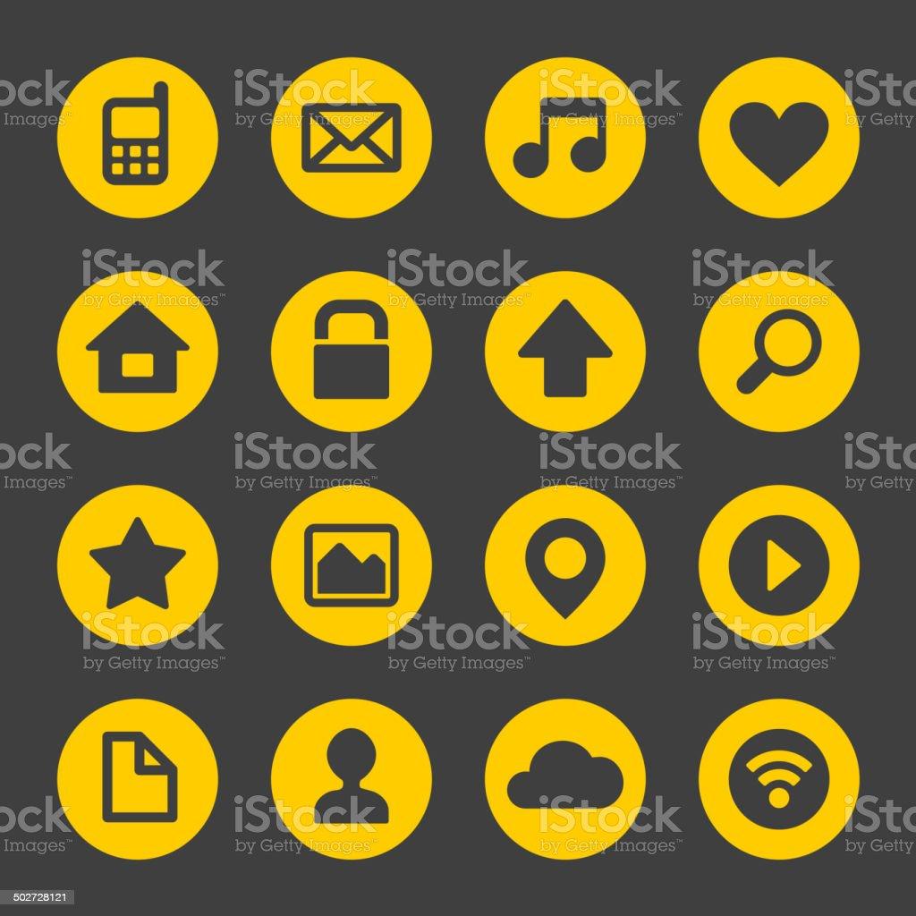 Universal Simple Web Icons Set royalty-free stock vector art