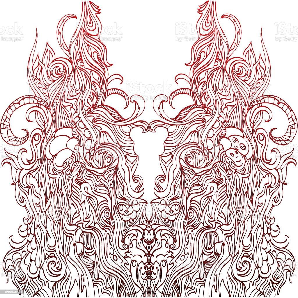 universal Symmetrie Lizenzfreies vektor illustration