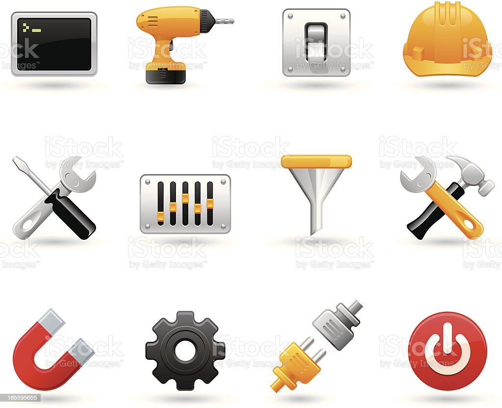 Universal vector icons - Settings royalty-free stock vector art