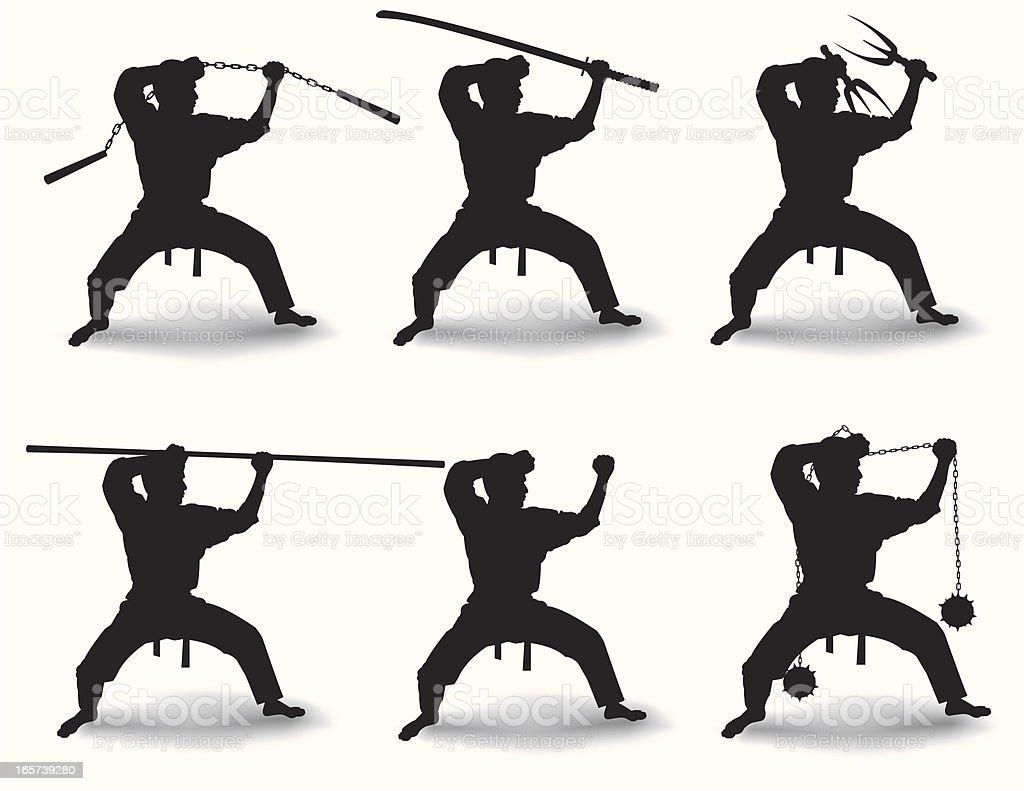 Universal warrior vector art illustration