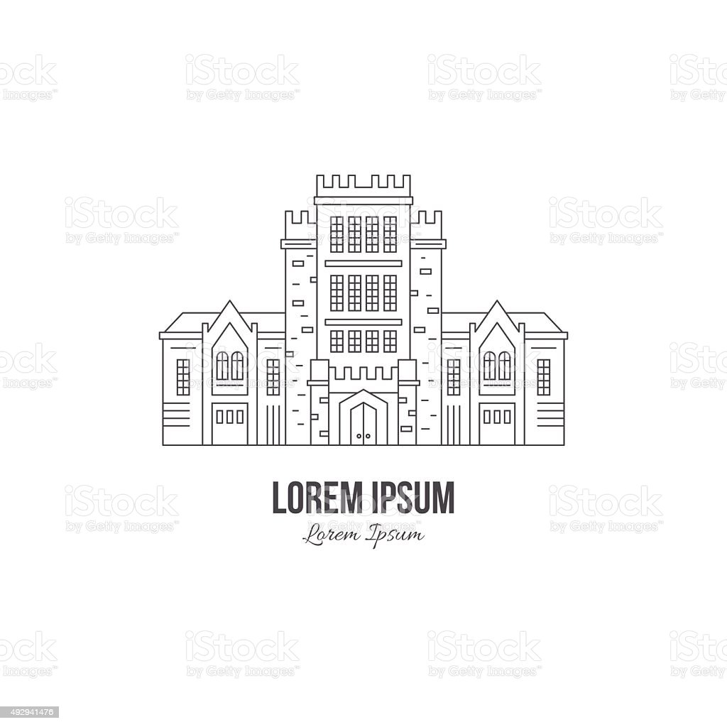 University Building vector art illustration