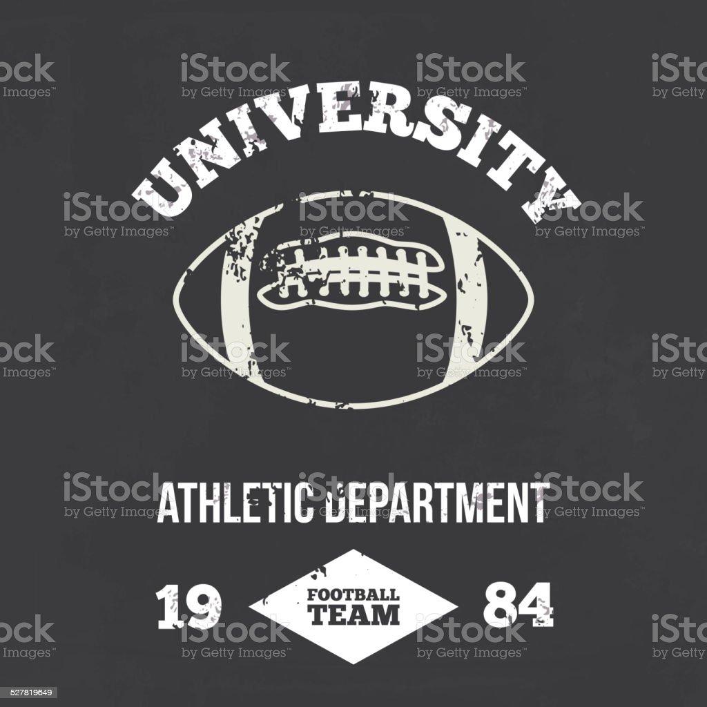 University football athletic dept. Vector vector art illustration