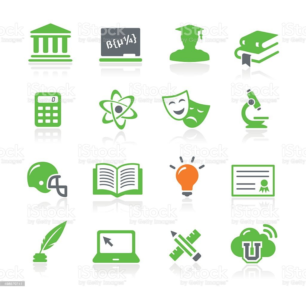 University Icons | Spring Series vector art illustration
