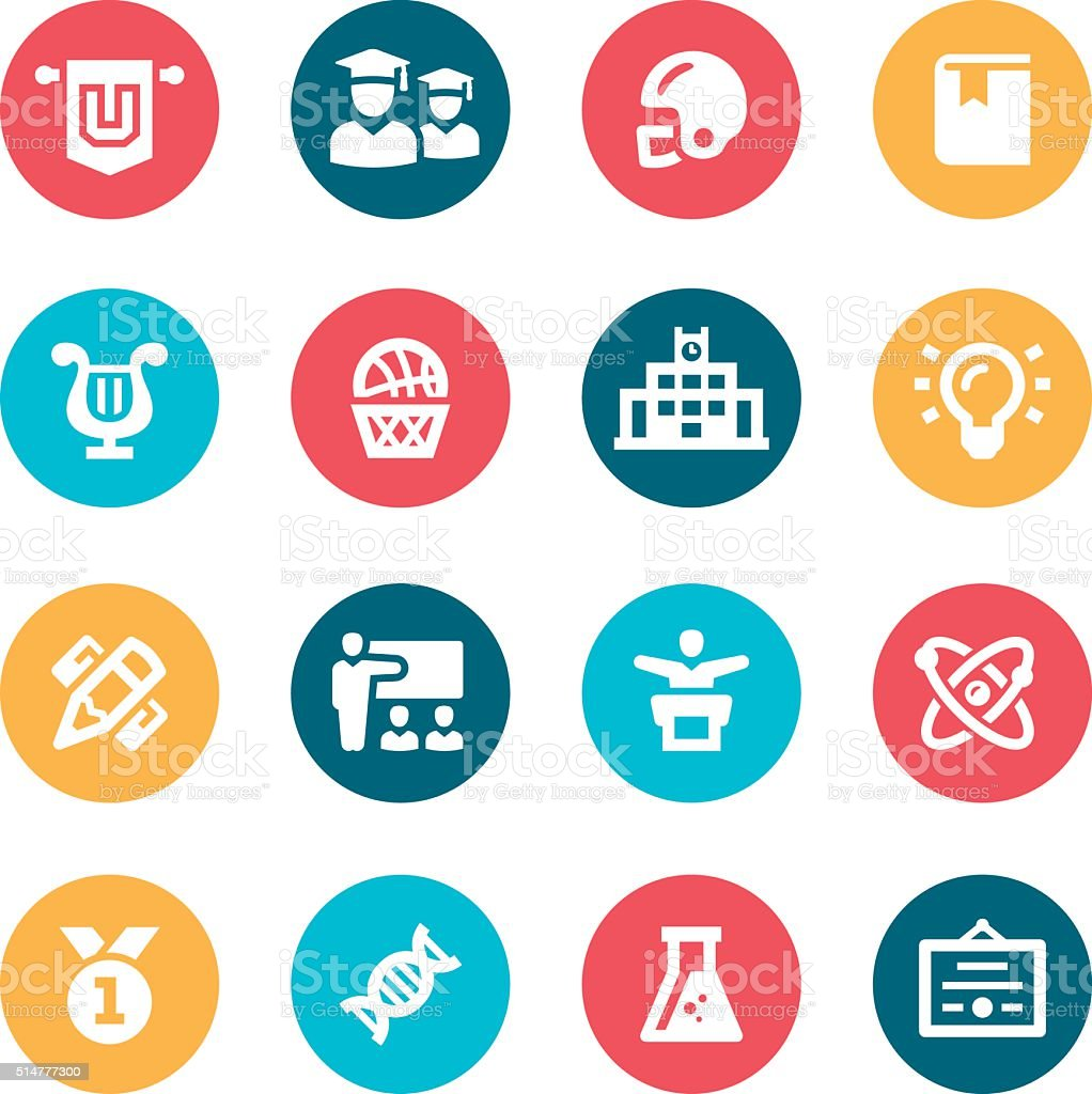 University Icons royalty-free stock vector art