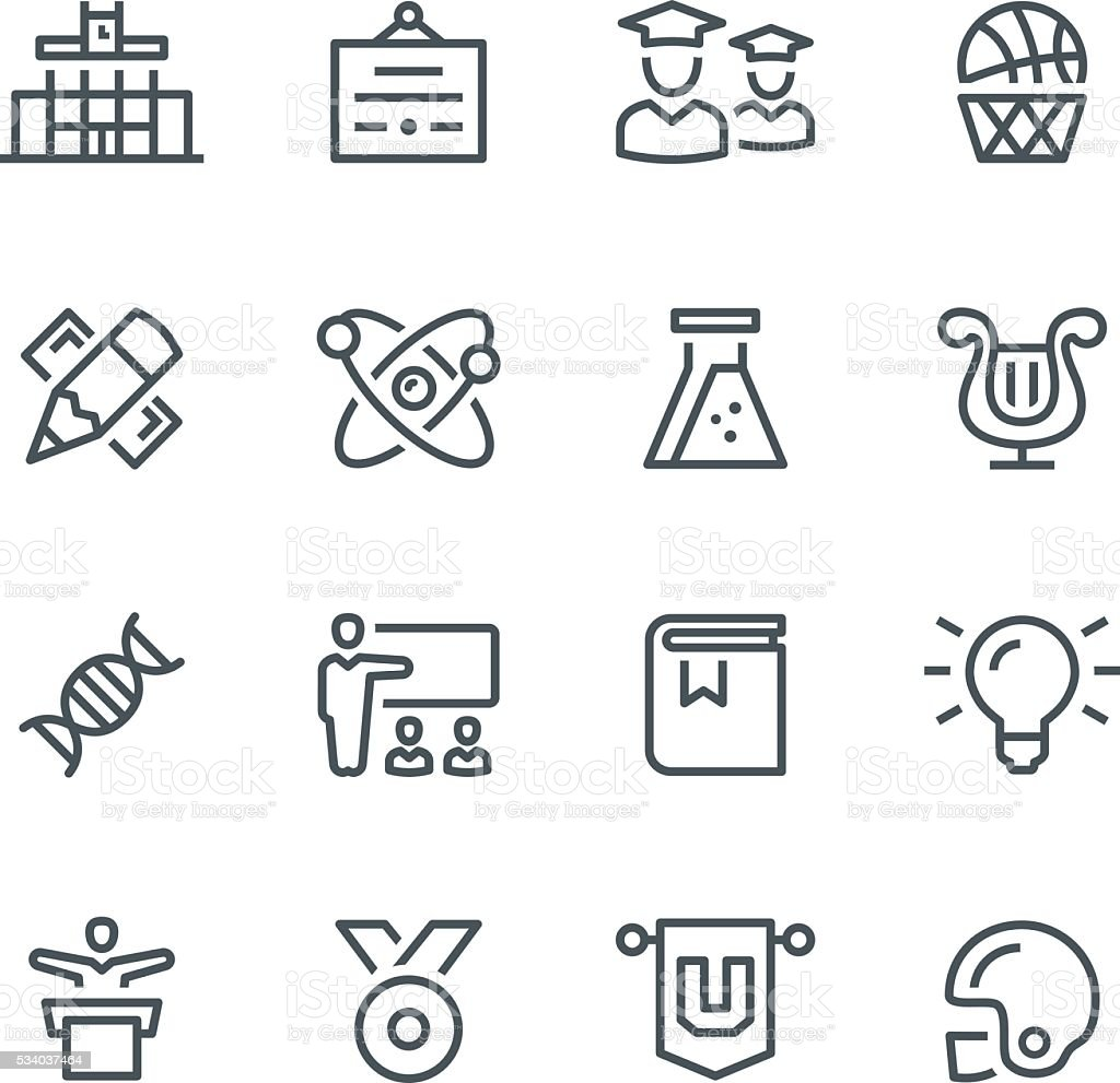 University Icons vector art illustration