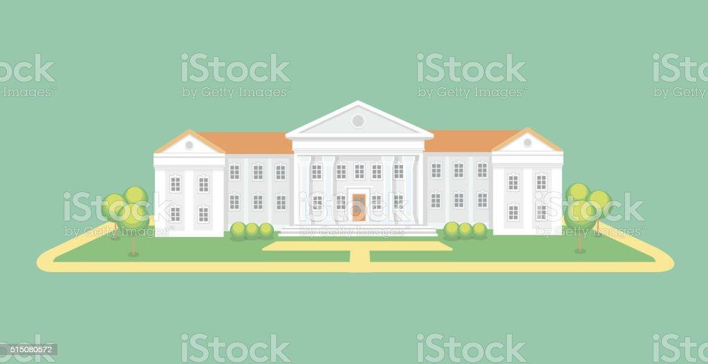 University or college building.  Campus graduation university, Education vector illustration vector art illustration