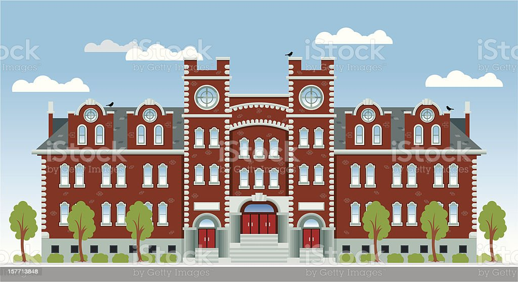 University or High School vector art illustration