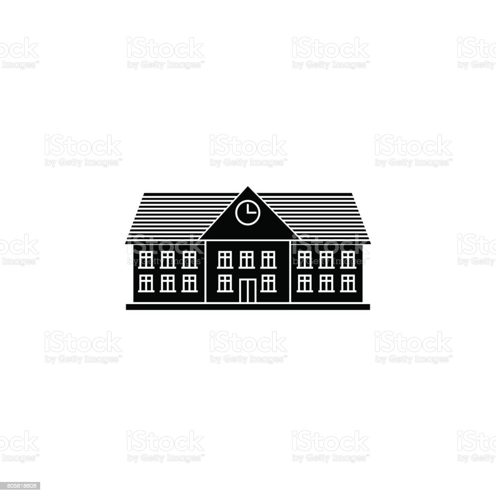 University solid icon, school and building vector art illustration