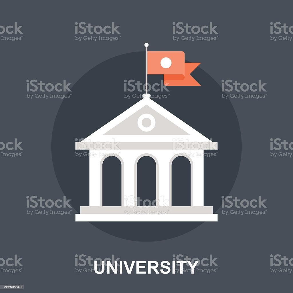 University vector art illustration