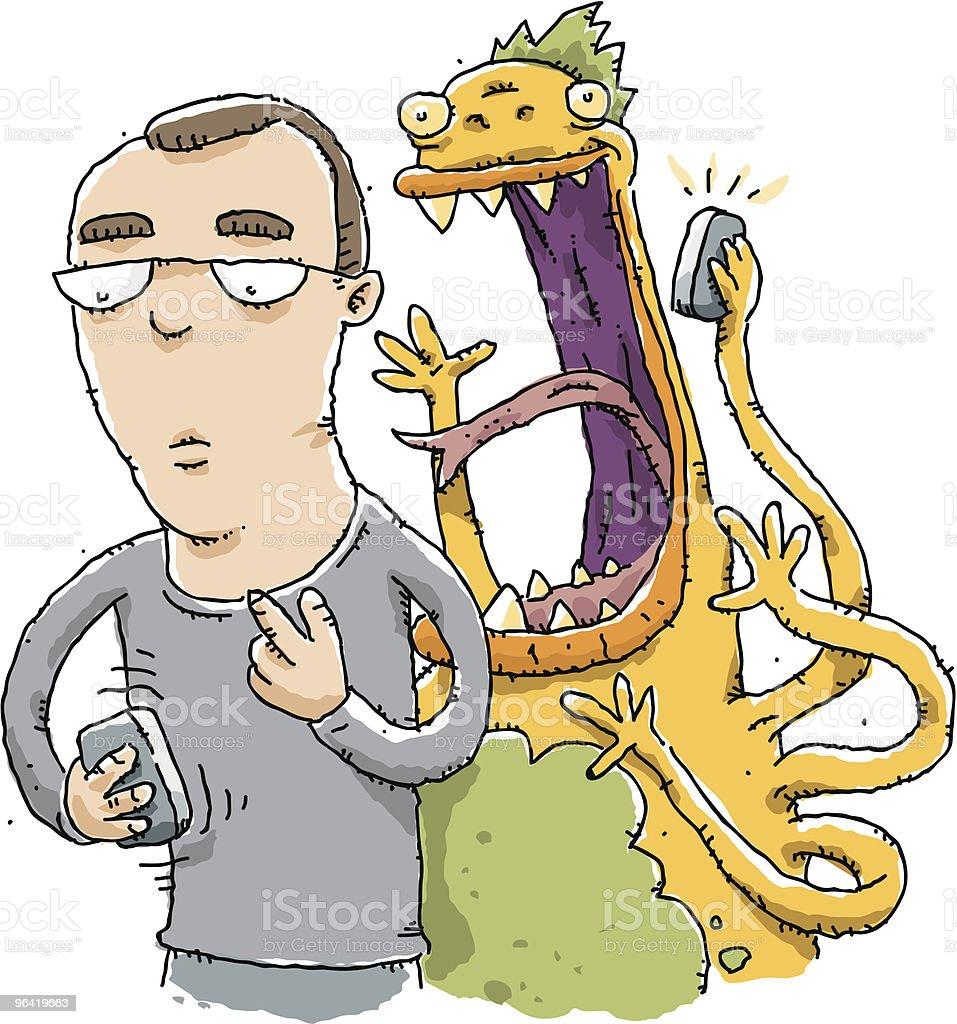 Unknown Caller vector art illustration
