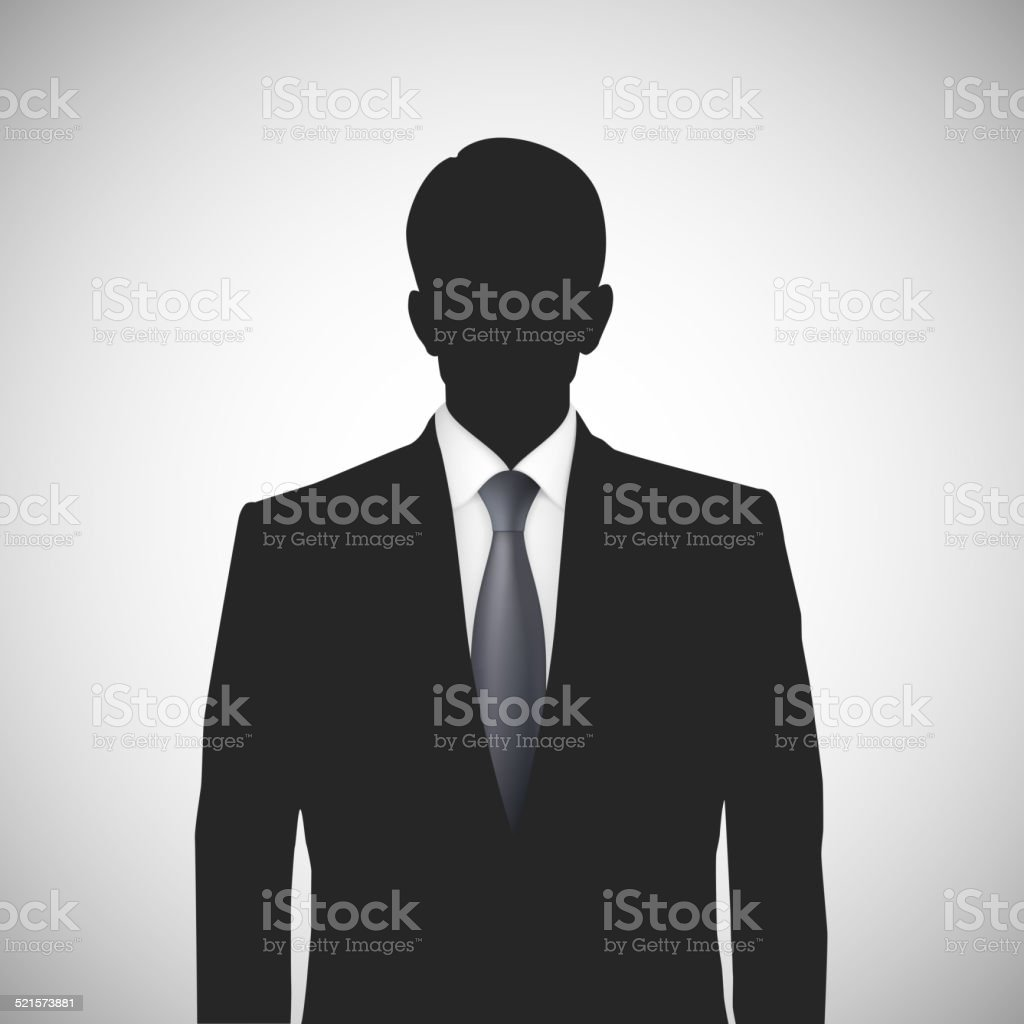 Unknown person silhouette whith tie vector art illustration