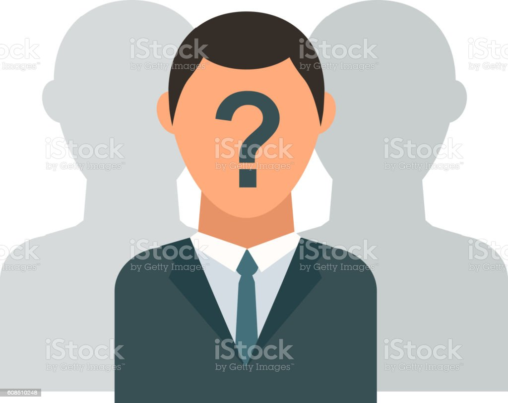 Unknown person vector illustration. vector art illustration