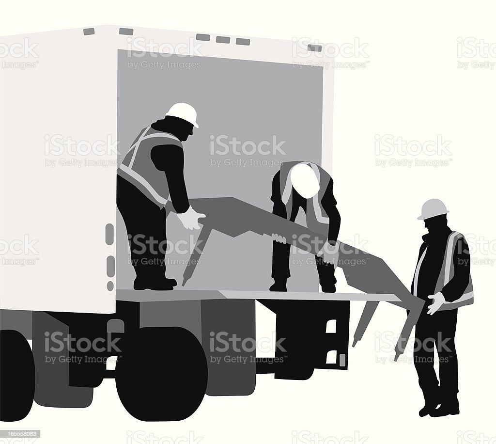 Unloading Equipment Vector Silhouette royalty-free stock vector art