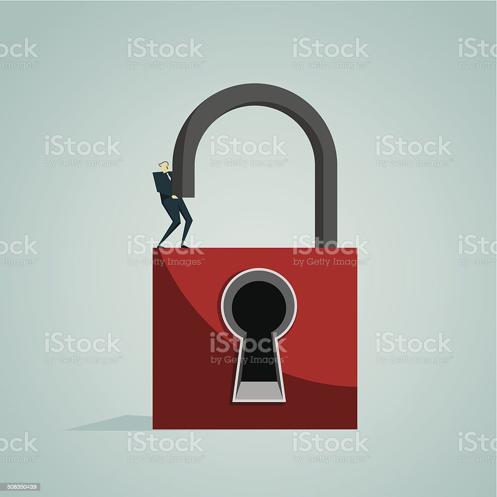Unlocking royalty-free stock vector art