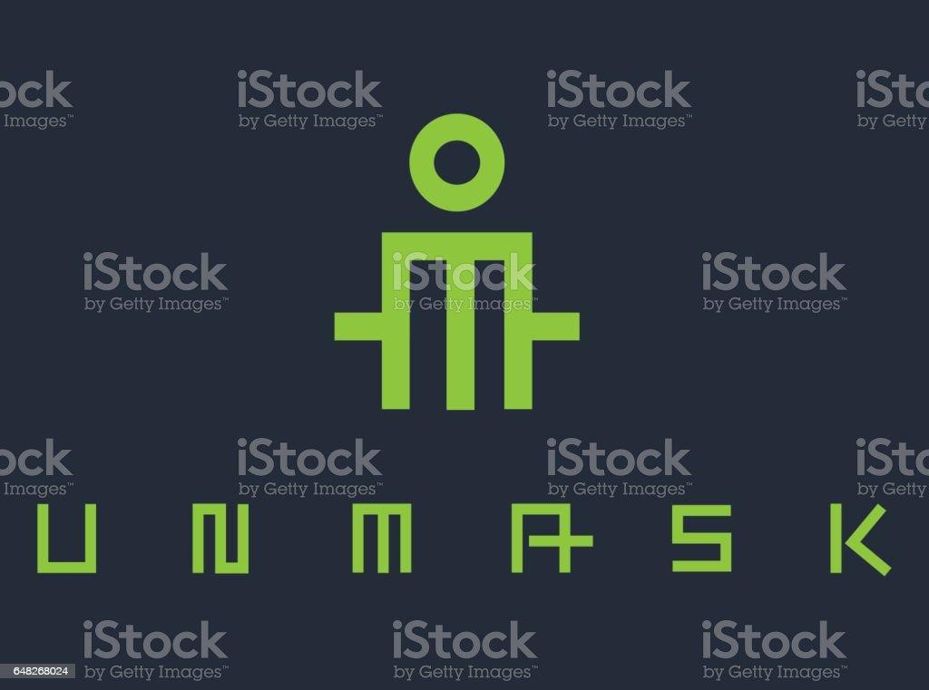 UnMask Concept Design vector art illustration