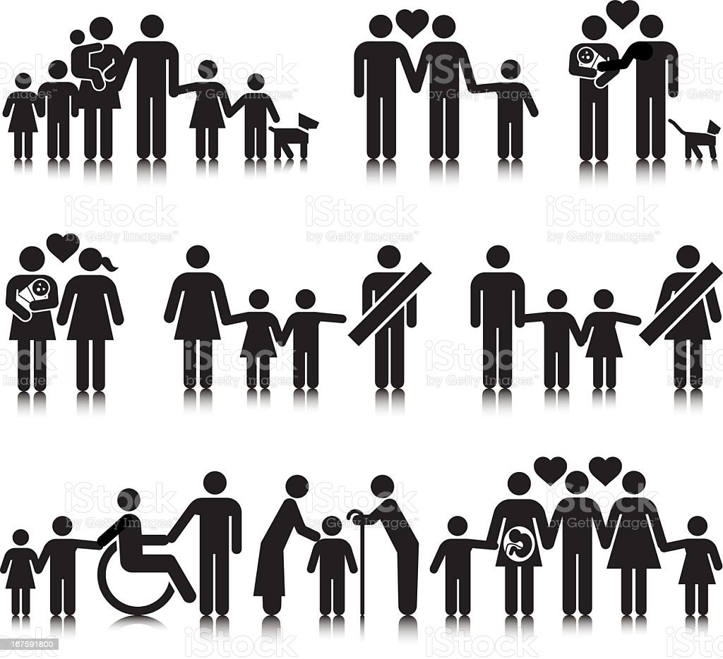 Unorthodox Families vector art illustration