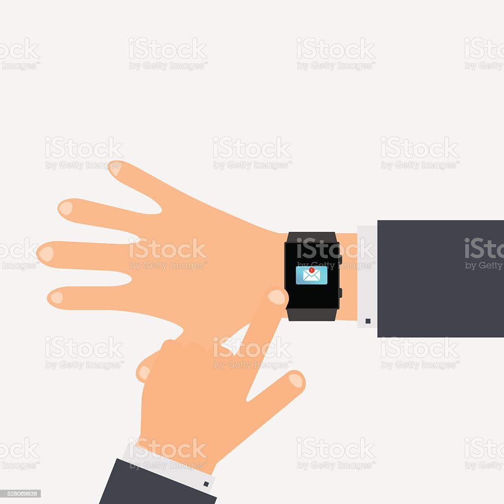 Unread messages on the smart phone. vector illustration. vector art illustration