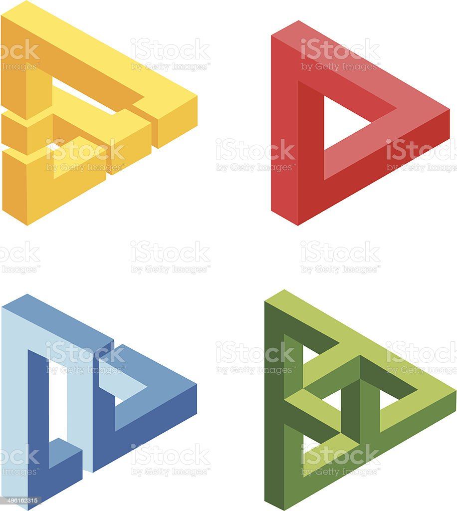 unreal bright geometrical objects vector vector art illustration