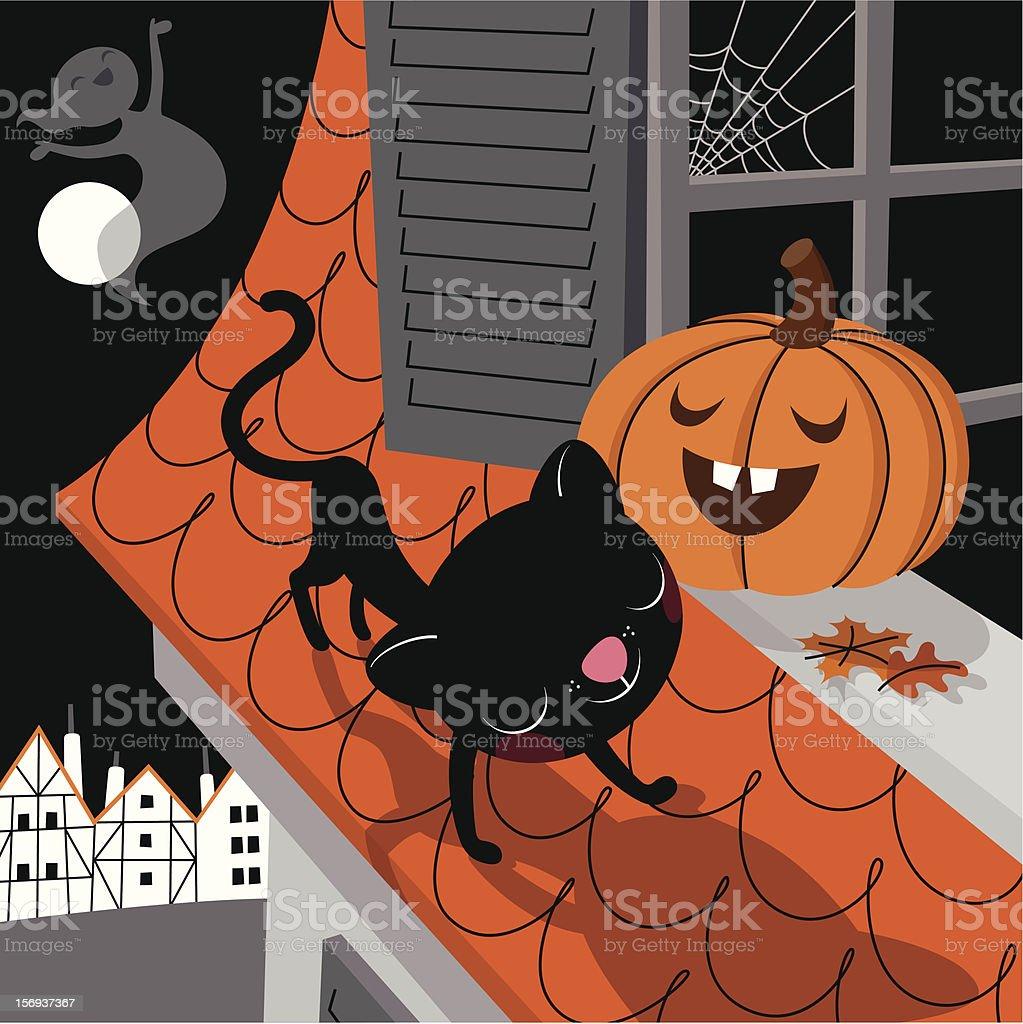Unscary Halloween. vector art illustration